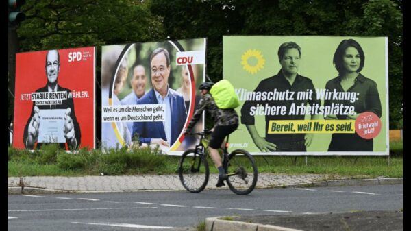 세 정당의 선거 홍보물